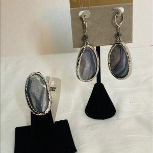 Lucy & Laurel Earring & Ring Sz 6.5  Set